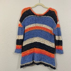 J. Jill Ribbon Yarn Striped Sweater Sweate…
